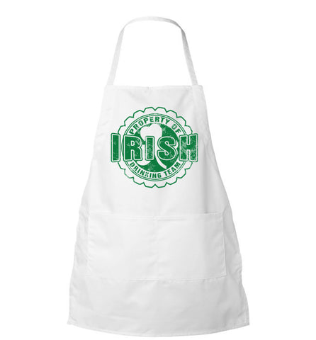 Property Of Irish Drinking Team Apron