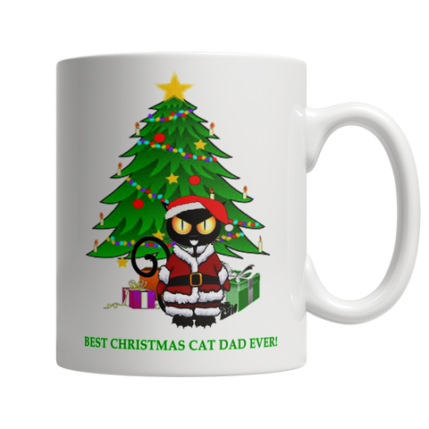 Best Christmas Cat Dad Ever Mug