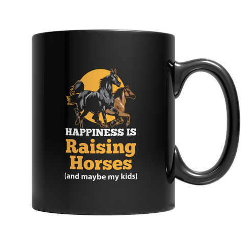 Happiness Is Raising Horses Mug
