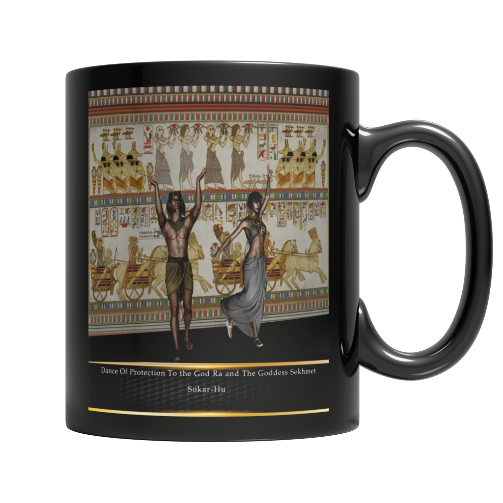 Ancient Egyptian Dance Mug - Black
