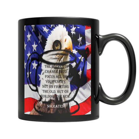 Veterans Day - US Flag - Socrates - Eagle Cup - Teapot Mug