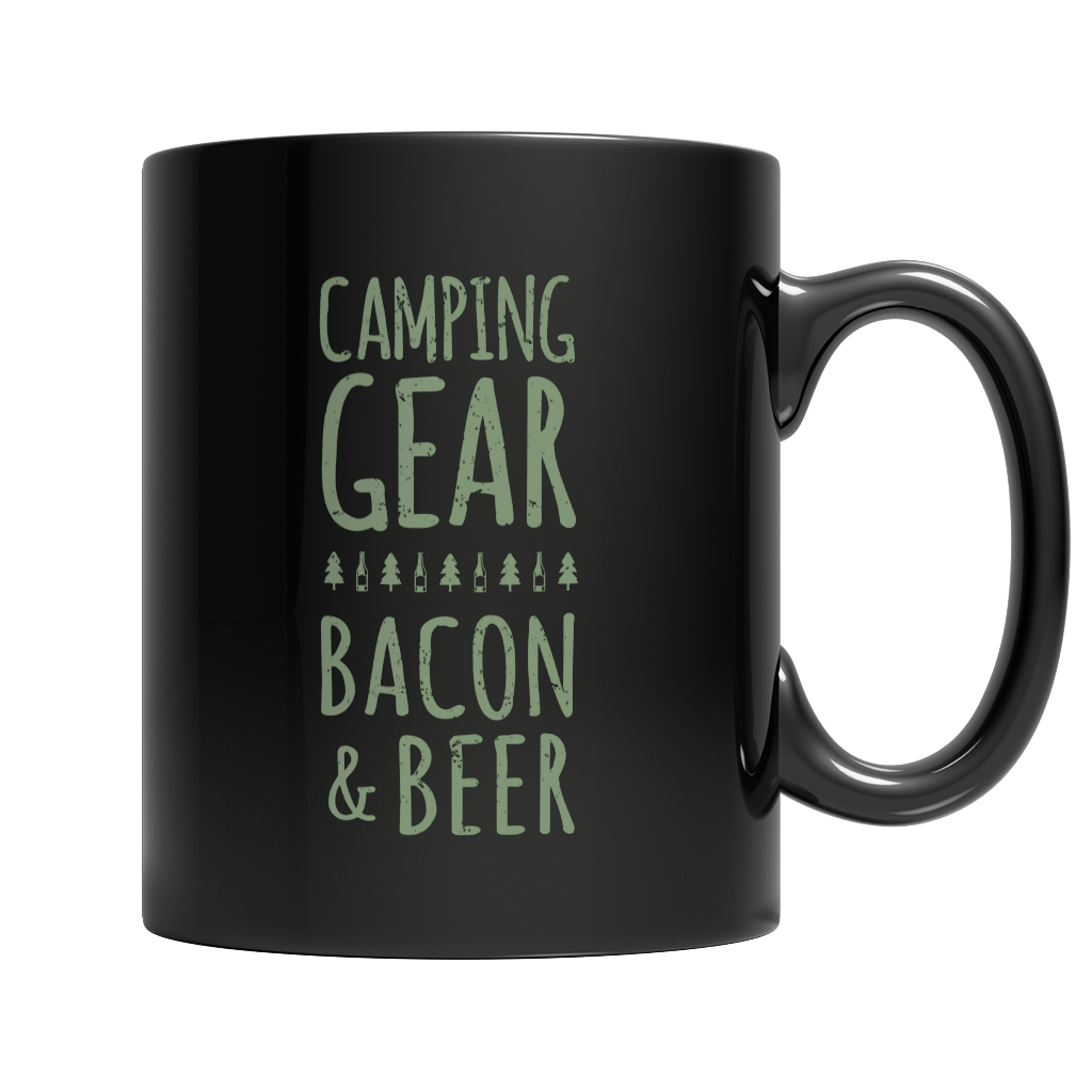 Camping Gear Bacon And Beer Mug
