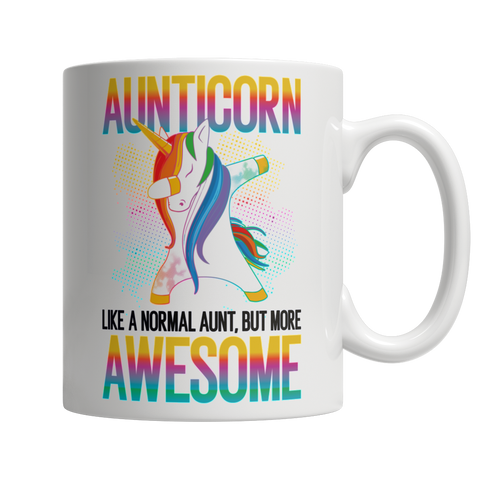 Aunticorn - White Mug