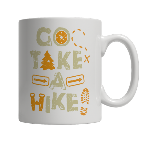 Go Take A Hike 11 oz  White Mug
