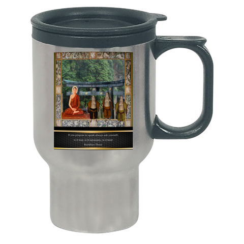 Buddhas at Temple Travel Mug