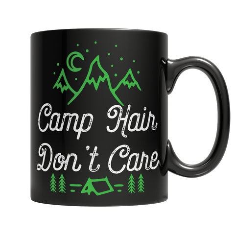 Camp Hair Don't Care Dark Mug