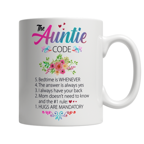 The Auntie Code - White Mug