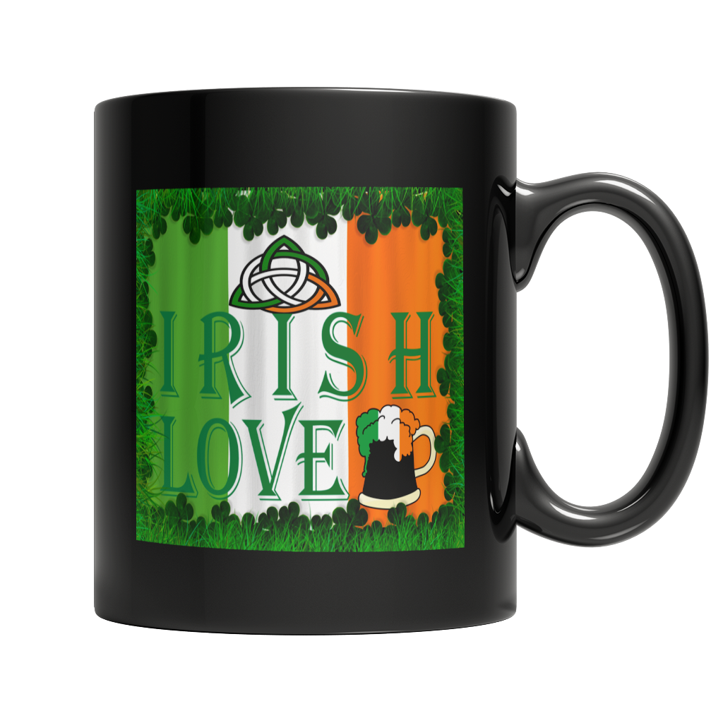 Irish Love - St. Patrick's Day Black Mug