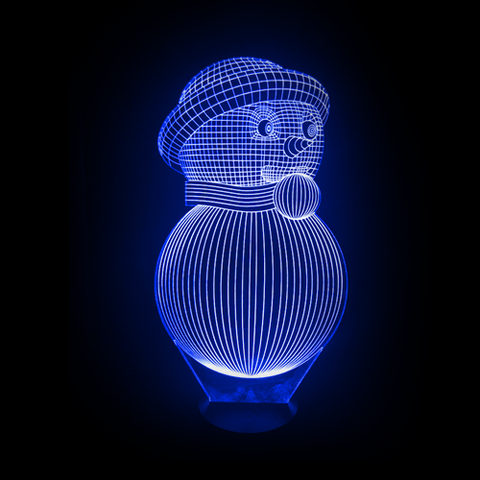 3D Night Light - Snowman 2