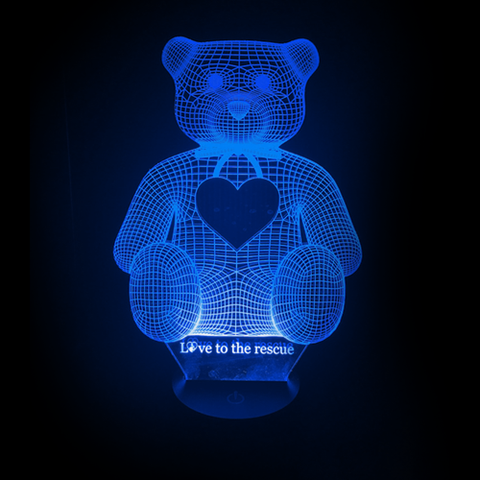 3D Night Light - Rescue Bear