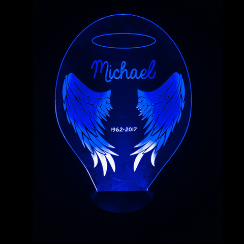 3D Night Light - Personalized Wings