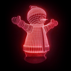 3D Night Light - Snowman