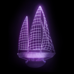 3D Night Light - Sailboat
