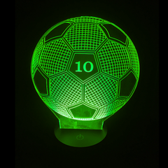3D Night Light - Personalized Soccerball