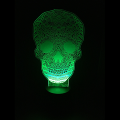 3D Night Light - Skull Calavera