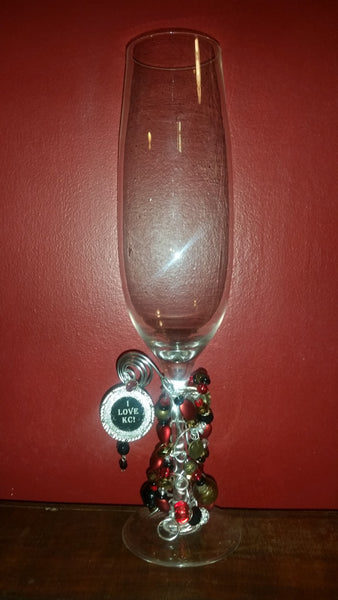 KC Chiefs Wine/Champagne Glass