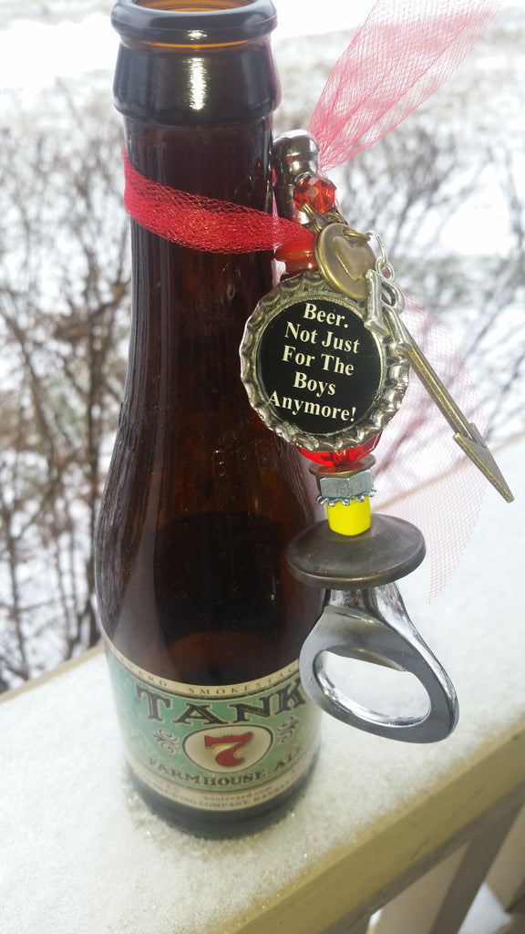 "Chiefs Beer Bottle Opener~  ""Beer.  Not Just For The Boys Anymore!"" or ""Real Women Drink Beer!"""