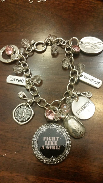 """Fight Like a Girl!"" Bracelet"