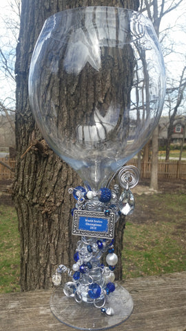 Giant Royals World Series Champ Glass