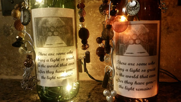 Light Lives On Wine Bottle Lamp