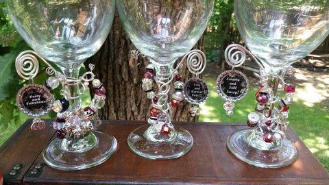 """Fifty and Forever Foxy!"" Wine Glass"