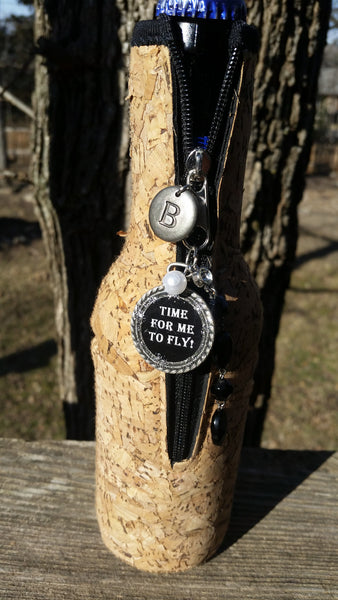 """Time For Me To Fly!"" Wine Glass/Beer Koozie Trunk"