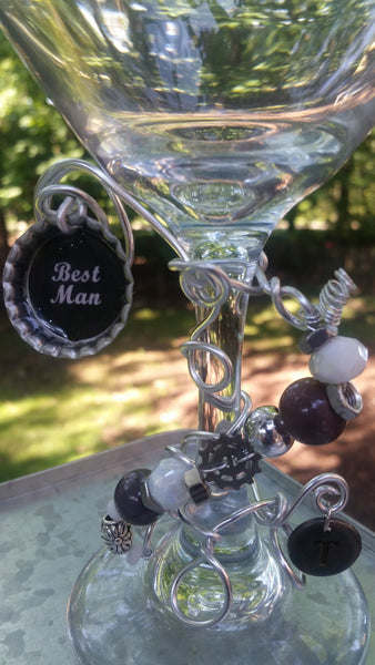 """Best Man"" Wine Glass"