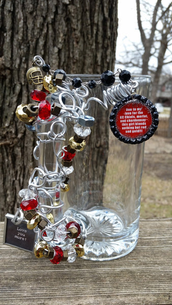 Chiefs Beaded Beer Mug