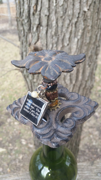 Rustic Leaf Wine Stopper