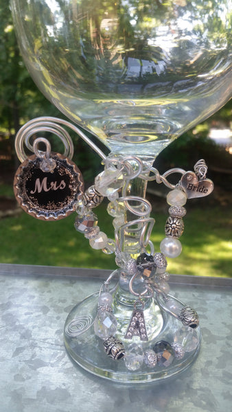 """Mrs"" Wedding Glass"