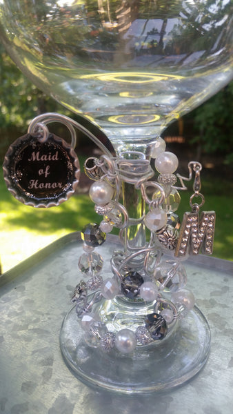 """Maid/Matron of Honor""  Wine Glass"