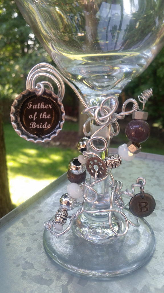 """Father of the Bride/Groom"" Wine Glass"