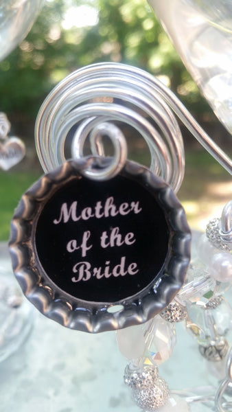"""Mother of the Bride/Groom"" Wine Glass"