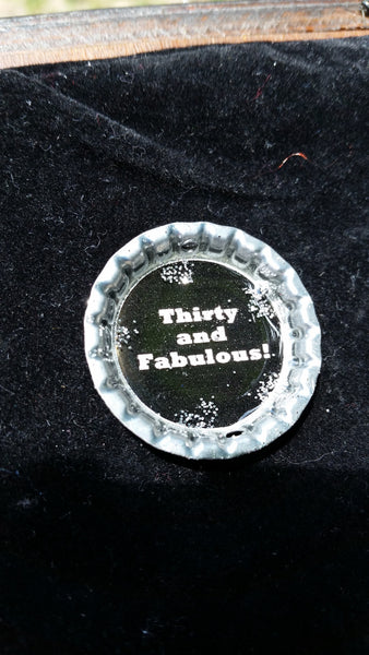 """Thirty and Flirty"" Wine Glass"