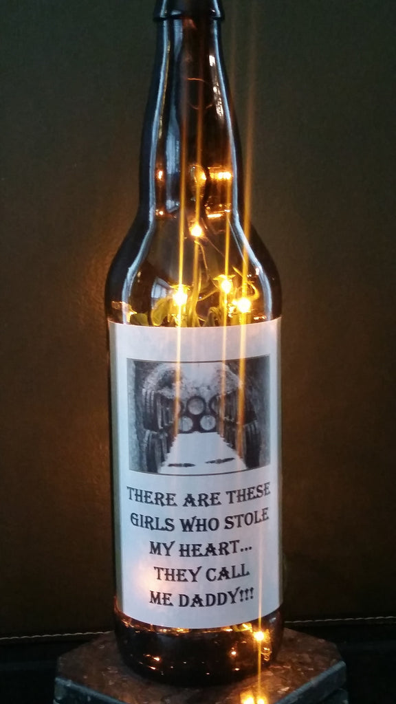 Girls Stole My Heart Beer Bottle Lamp For Daddy