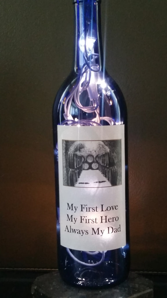 My First Love Wine Lamp for Dad