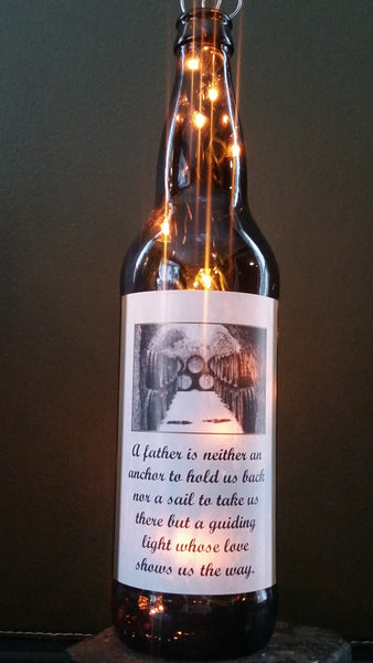 Father is An Anchor Beer Bottle Lamp