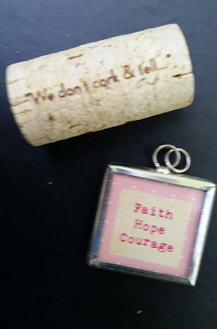 Faith Hope Courage - Two-sided Charm