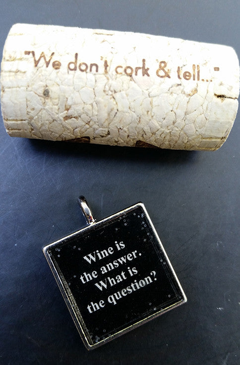 Wine is the Answer - What is the Question Charm