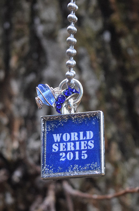 World Series 2015 - Square Charm Necklace