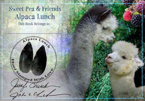 Alpaca Lunch Bookplate  Signed & Personalized