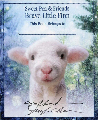 Brave Little Finn Bookplate #2  Signed & Personalized