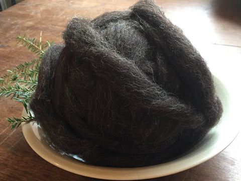 Roving: Natural Brown Heather