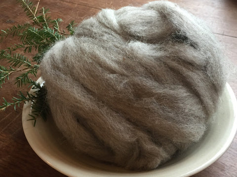 Roving: Natural Soft Heather Gray