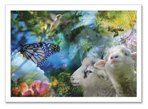 "Storybook Art Card ~""The Birds and the Bees"""