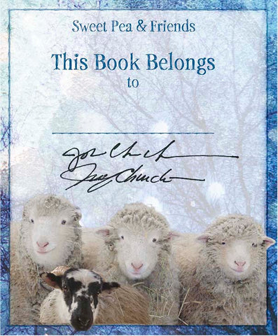 New! Sweet Pea & Friends Bookplate Collection Author Signed & Personalized