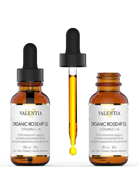 Rosehip Oil: Organic Rosehip Oil With Vitamin C And A
