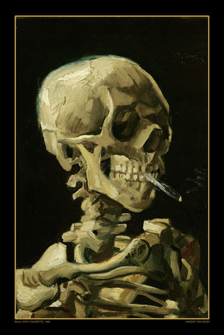 AP618 Van Gogh - Skull with Cigarette - 1885, 24 x 36