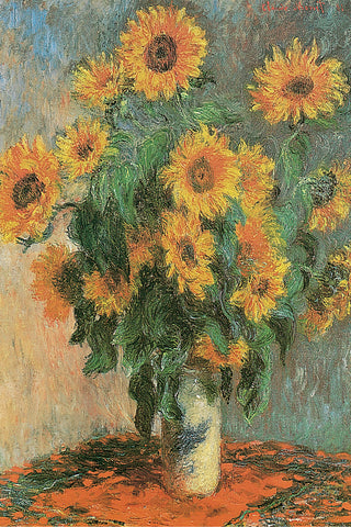 AP641 Monet - Sunflowers, 1881 24 x 36
