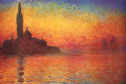 AP797 Monet - Dusk in Venice, 24 x 36